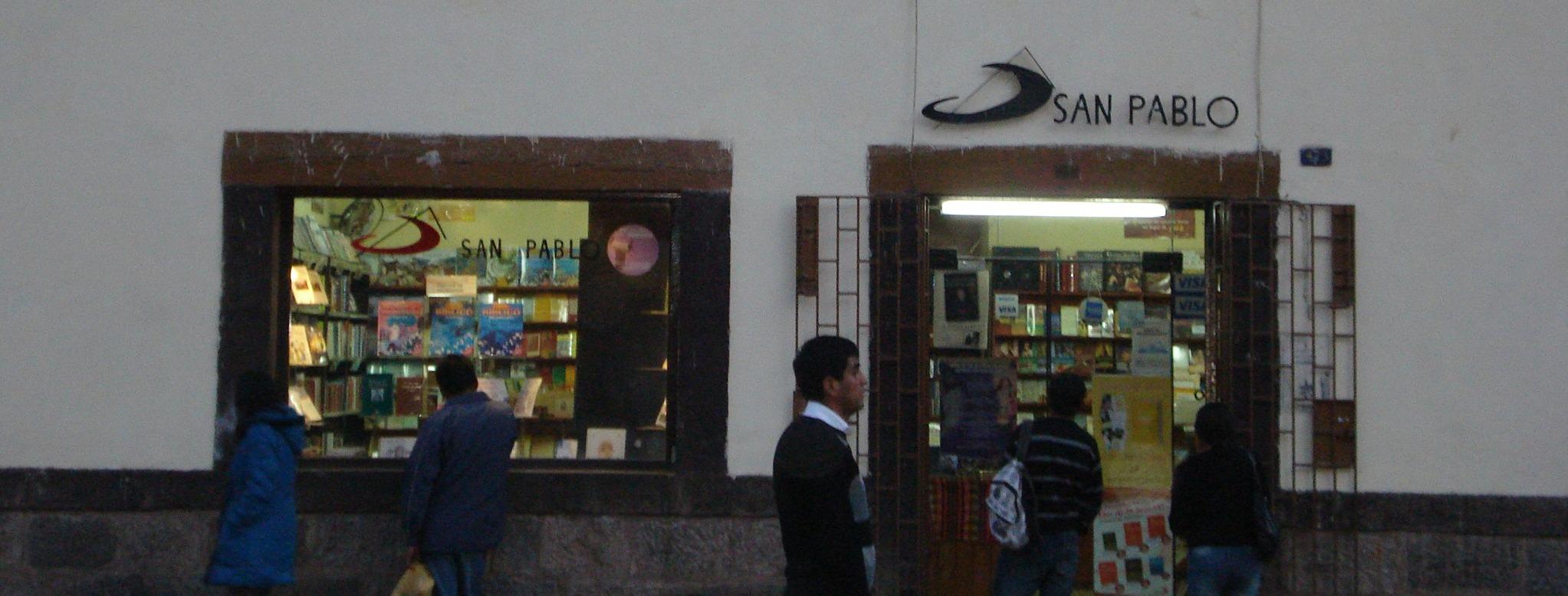 Portada Librería San Pablo Cusco