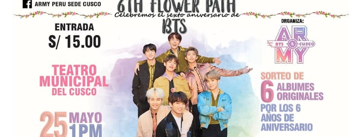 Portada 6TH FLOWER PATH | VI Aniversario de BTS