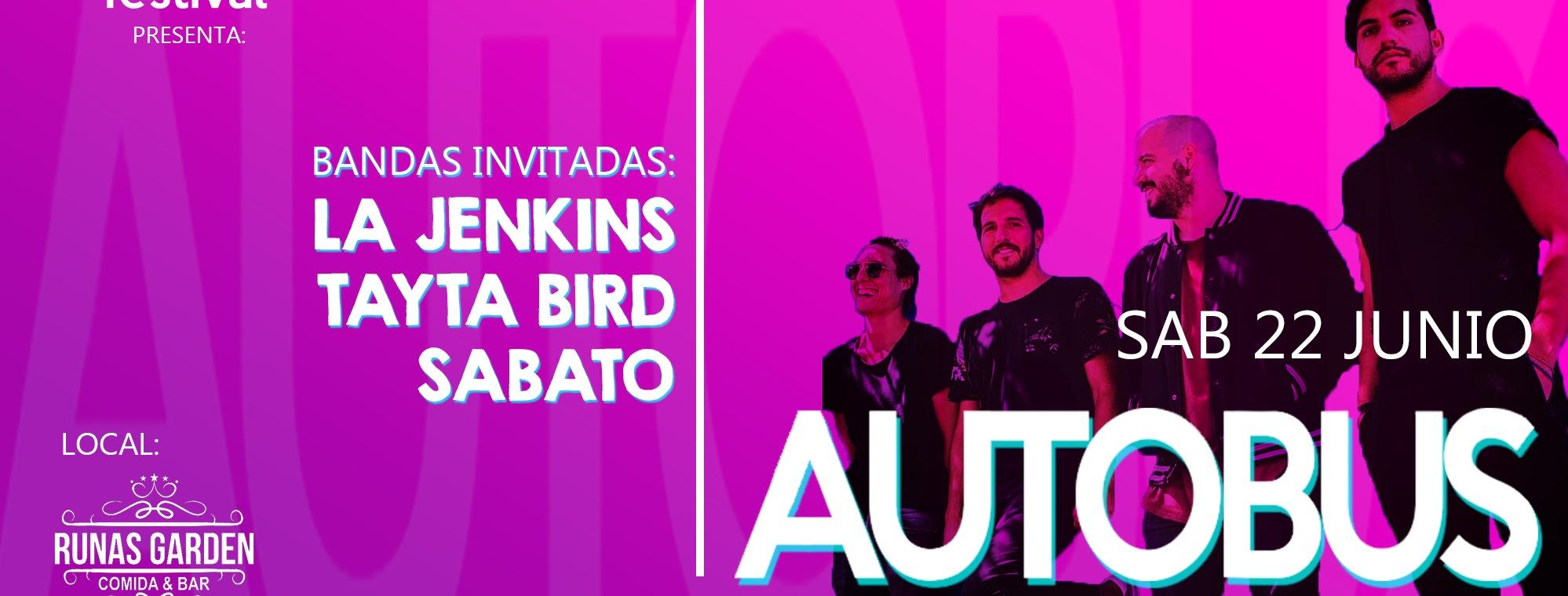 Portada Autobus en Cusco - Aquarela Festival